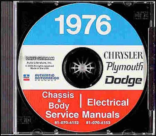1976 DODGE REPAIR SHOP & SERVICE MANUAL & BODY MANUAL CD INCLUDES: Dart (Swinger Special, Swinger, Special Edition Sport, 360 Sport & Custom), Aspen (Custom & Special Edition), Coronet (Coupe, Custom, Brougham & Crestwood). 76