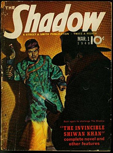 (The Shadow Pulp March 1 1940- Invincible Shiwan Khan G/VG)