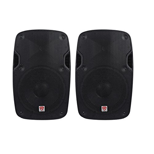 (2) Rockville SPGN108 10'' Passive 8 Ohm Lightweight DJ PA ABS Cabinet Speakers Totaling 1600 Watt With 2'' Aluminum Voice Coil For Amazing Sound Clarity by Rockville