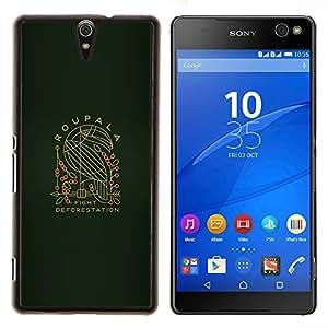 LECELL--Funda protectora / Cubierta / Piel For Sony Xperia C5 Ultra -- Roupala --