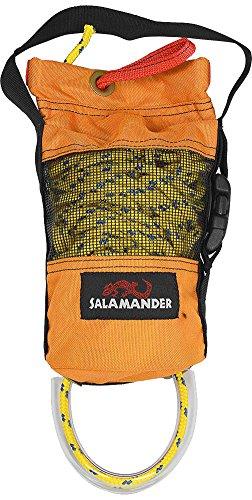 Salamander Pop-Top Small Kayak Rescue Throw Rope Bag-Yellow (Polypro Bags)