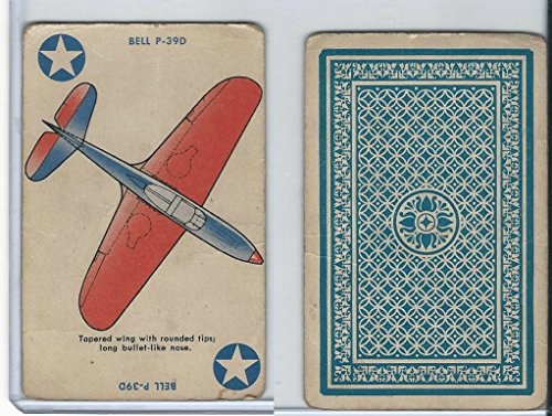 R112-8 Whitman Publishing, Card-O Squadron, 1942, Bell P-39D (Tapered)