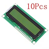 10Pcs 1602 Character LCD Display Module Yellow Backlight For Arduino - Arduino Compatible SCM & DIY Kits