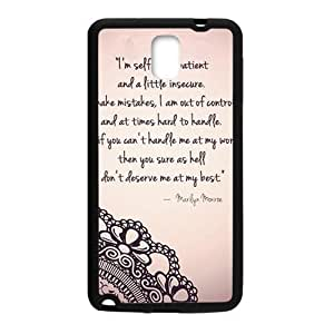 Marilyn Monroe Quote Phone Case for Samsung Galaxy Note3