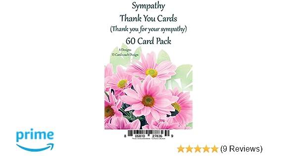 Amazon Com Sympathy Thank You Cards Premium 60 Ct Religious