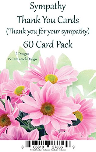 Sympathy Thank You Cards Premium 60 ct. Religious Greeting Card Asst. w/ Scripture
