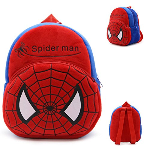 Backpack Schoolbag - Spider Man Design Animal Cartoon Mini Backpack Schoolbag Shoulder Bag Suitable For Babies and Children - Perfect Birthday Gifts - For Kids (Spider Man 2)