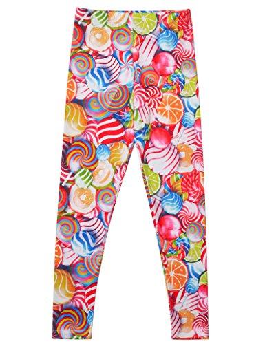 Jxstar animal print leggings city treads legging pink leggings green leggings leggings for kids animal print leggings Lollipop 130 -
