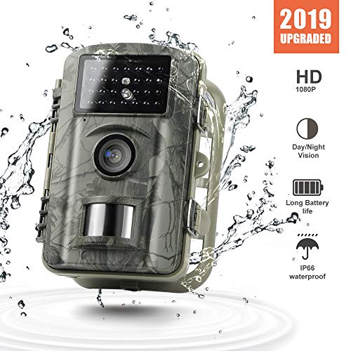 Gosira Trail Cameras with Night Vision Motion Activated Waterproof IP66 Upgraded 12MP HD Scouting Hunting Camera with Latest 940nm Infrared LEDs 0.4S Trigger