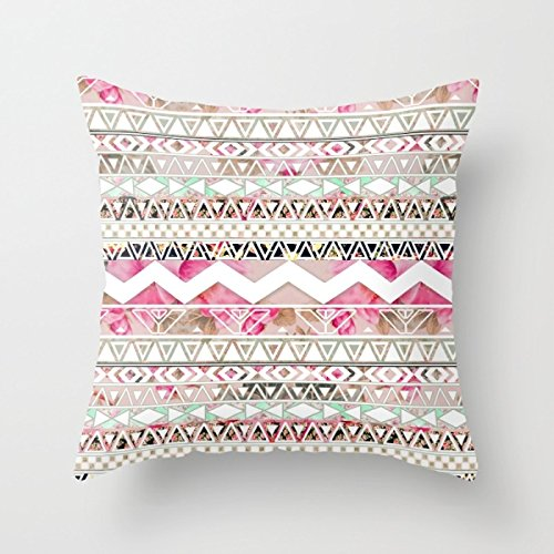 [Artistdecor Geometry Cushion Covers 20 X 20 Inches / 50 By 50 Cm Gift Or Decor For Girls,office,gril Friend,indoor,car Seat,club - Each] (Group Office Costumes)