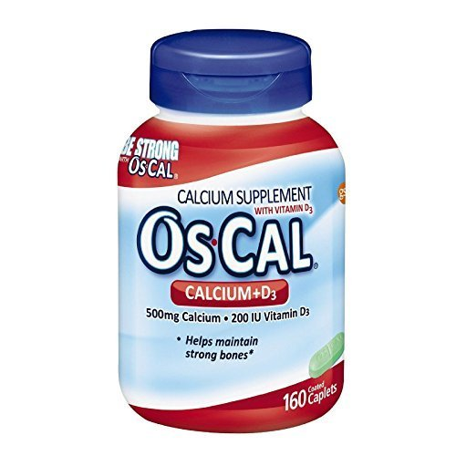 Oscal 500 Plus Vitamin D Calcium Supplement Caplets - 160 Ea