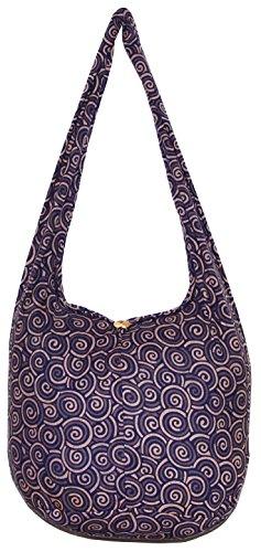 Shell Hippie Bohemian Shoulder Hobo Boho Cross Body Bag Hippie Handbag (DeepBlue) by All Best Thing