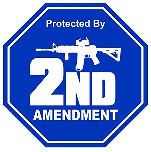 1-Pcs Great Popular 2nd Amendment AR-15 Gun Car Stickers Sign Self-Adhesive Patriotic Decal Motorcycle Helmet Size 2