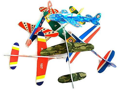 """Price comparison product image Foam Glider Planes 5"""" Inch - 72 Piece Party Pack"""