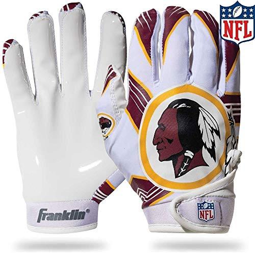 (NFL Washington Redskins Youth Receiver Gloves,White,Medium)