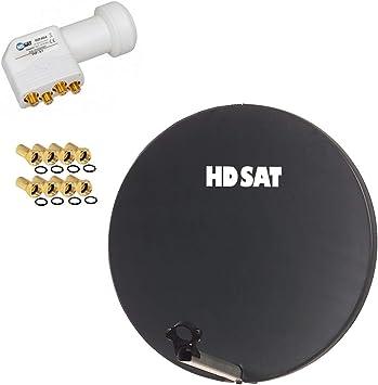 HDSAT Antena parabólica Fibra Composite Gris Antracita 60 cm ...