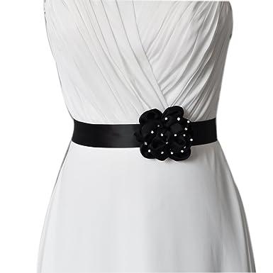 098304b8b856b TOPQUEEN Fleur mariée Noir ceinture femme ceintures ceintures Sash de  mariage pour mariage