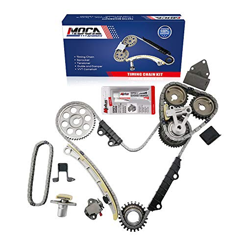 (MOCA Engine Timing Chain Kit for 2001-2004 Chevrolet Tracker & 1999-2005 Suzuki Vitara XL-7 2.5L 2.7L V6 24V DOHC H25A H27A)