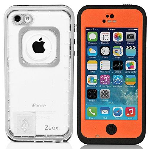 iPhone 5C Case, Zeox iPhone 5C Waterproof Shockproof Dirtproof Snowproof Protection Case Cover for Apple iPhone 5C - Orange