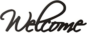 P. GRAHAM DUNN Welcome Script Black 10.25 x 27 Wood Cutout Wall Word