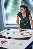 Atomic Blazer 7' Air Hockey Table with Electronic Score Keeping with Rail-integrated Display, Heavy-duty 120V Blower for Fast Play, Overhang Rails for Reduced Puck Bounce and Leg Levelers to Ensure Even Playing Surface