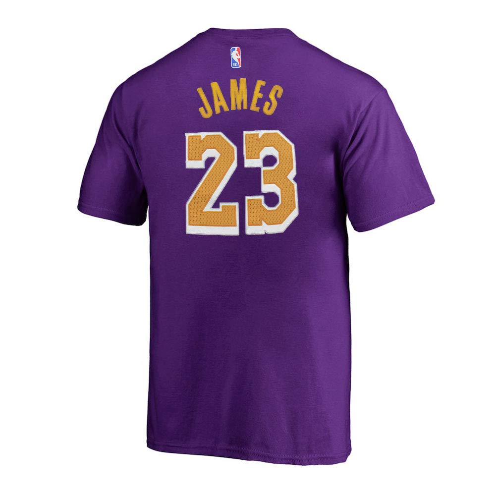 dd2f4303a31b Amazon.com   Outerstuff Lebron James Los Angeles Lakers  23 Youth HD Net  Name   Number T-Shirt Purple   Sports   Outdoors