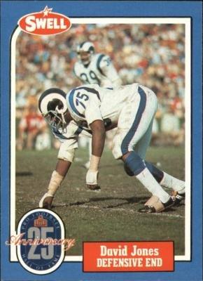 (Deacon Jones football card (Los Angeles Rams) 1988 Swell #60 Football Greats )