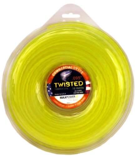 - Maxpower 338814 Premium Twisted Trimmer Line .095-Inch Twisted Trimmer Line 200-Foot Length