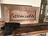 Hidden Gun Storage Farmhouse Style Pine Cabinet Early American | Customizable Hand Painted Front