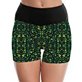 St Patrick's Party Shamrock Yoga Shorts Pants Allows Your Body To Breathe And Protects You From The Uncomfortable Feeling Of Rubbing Sticky Skin.The Amazing Shorts Have A Wide, Comfortable Tummy Control Fold Over Waist Band That Helps You Shape Your ...