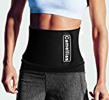 Camellias Waist Trimmer - Adjustable Ab Belt for Men & Women to shed the excess Water,Waist Trainer Stomach Wrap Enjoy Sweet Abdominal Muscle & Back Support,SZ8007-Black-Free Size