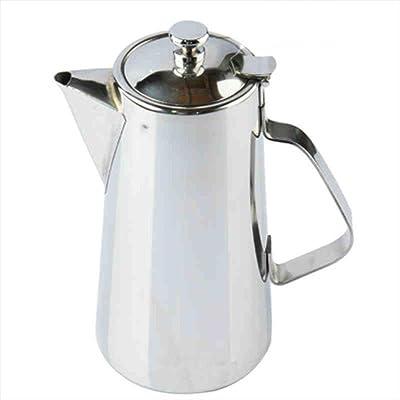 Bouilloire froide en acier inoxydable pot à bouche courte pot à café maison grande capacité 2L