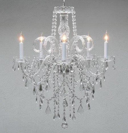 Chandelier Made with Swarovski Crystal Authentic All Crystal Chandelier Chandeliers H30 X W24