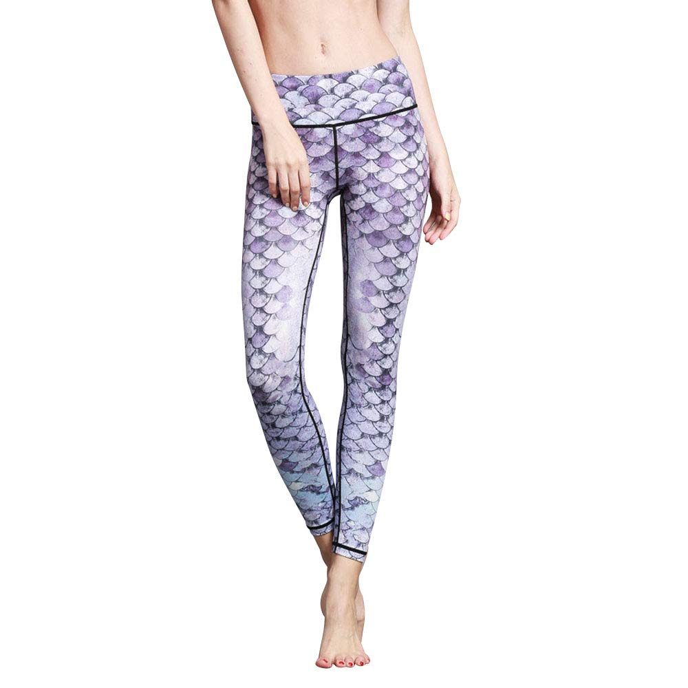 COUKONG Women Yoga Pants High Waist Sport Skinny Workout Gym Leggings Sports Training Pants