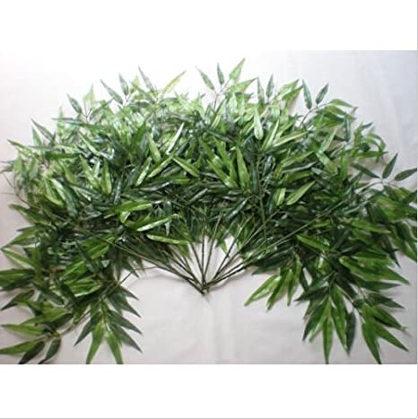 Outdoor Home Decor lastic Artificial Bamboo Leaf Tree Branch Green Plants Nice