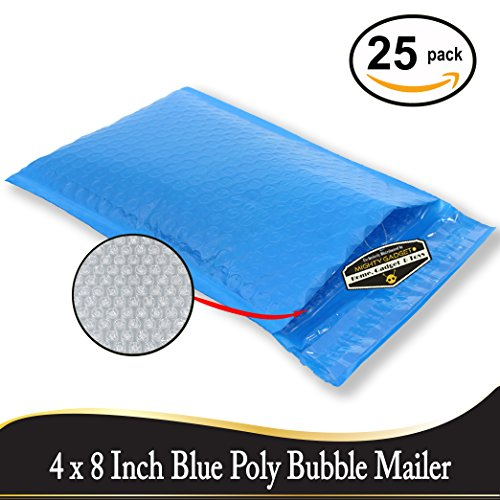 """Discount 25 Pack of Mighty Gadget (R) #0 6x10"""" Blue Poly Bubble Mailers - padded envelopes self seal supplier"""
