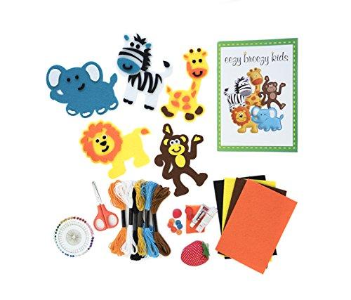 The Original Kids Sewing Kit. My First Safari Sewing Kit, Beginning Sewing Set for Kids, Unisex Beginners Learn to Sew Set