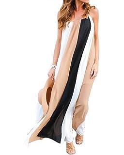 TOOGOO Veste en mousseline de soie pour femme Maxi Robe longue ... 1bb621b112d