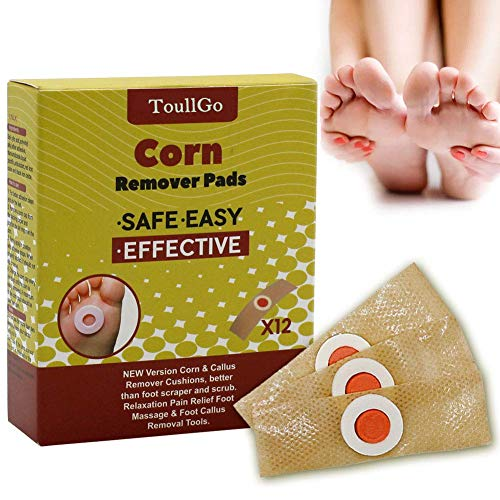 Corn Remover, Foot Corn Remover Pads, Corn & Callus Remover Cushions, Corn Plaster with Hole, It is a Better Solution for People Who Suffer The Pain of Corn, 12 Medicated Pads (Best Corn Treatment For Feet)