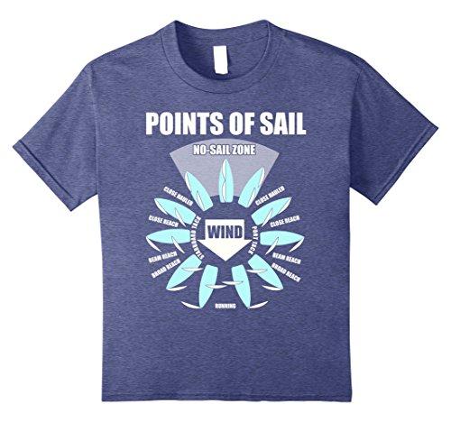Kids Points Of Sail T Shirt 10 Heather Blue