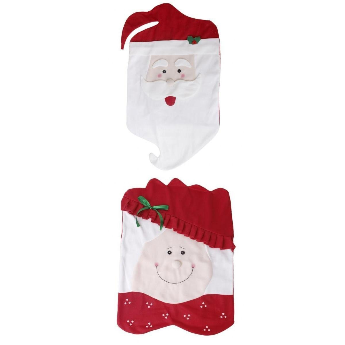 Amazon.com: Mr & Mrs Santa Claus Christmas Kitchen Chair Covers by ...