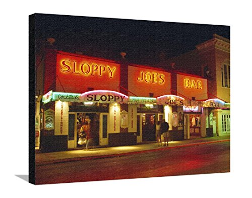 Sloppy Joe's Bar, Duval Street, Key West, Florida, USA Stretched Canvas Print by Fraser Hall - 32 x 24 - West Duval Key Street