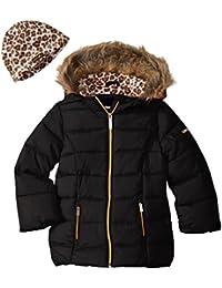 Girls' Too Faux Down Puffer W/Polar Fleece Hat