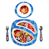 The First Years Disney Feeding Set, Jake and The Never Land Pirates, 4 Piece