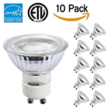 TSCDY GU10 LED,5W(35W Equivalent) Dimmable Bulbs,2700K Warm White,36 Degree Beam Angle,CRI 80+,120V,450 LM,ETL Listed and ENERGY STAR Qualified,Pack of 10