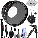 Opteka 0.43x Wide Angle/Macro Panoramic Fisheye Lens for Canon Digital SLR Cameras w/ 18-55mm & 50mm 80D, 77D, 70D, 60D, 7D, T7i, 7D Mark II, T6s, T6i, T6, T5i, T5, T4i, T3i, T3, SL1 & SL2