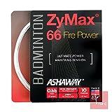 Ashaway Zymax 66 Fire Power 0.66mm Badminton String Set - White