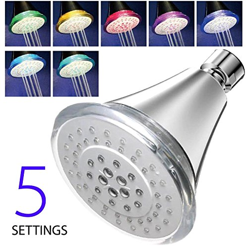 7 color led shower head - 6