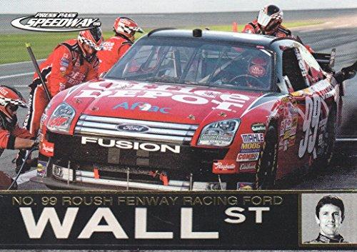 2008 Press Pass Speedway NASCAR Racing Gold #90 Carl Edwards' Car Wall ()