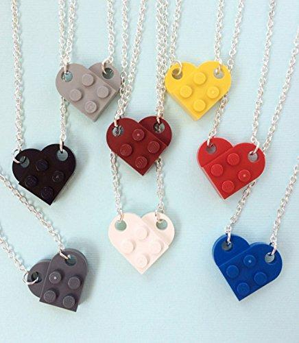 LEGO® Brick Heart Necklace